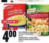 Knorr Sidekicks Or Lipton Soup