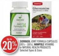Sierrasil Joint Formula Capsules (90's - 180's) - Wampole Vitamins or Natural Health Products