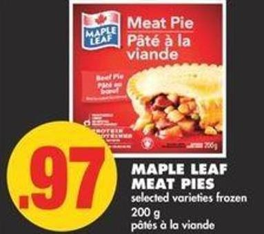 Maple Leaf Meat Pies - 200 g