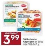Sum-m! Asian Appetizers or Soup Kits