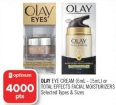 Olay Eye Cream (6ml - 15ml) or Total Effects Facial Moisturizers