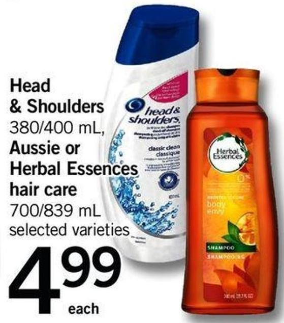 Head & Shoulders 380/400 Ml - Aussie Or Herbal Essences Hair Care - 700/839 Ml