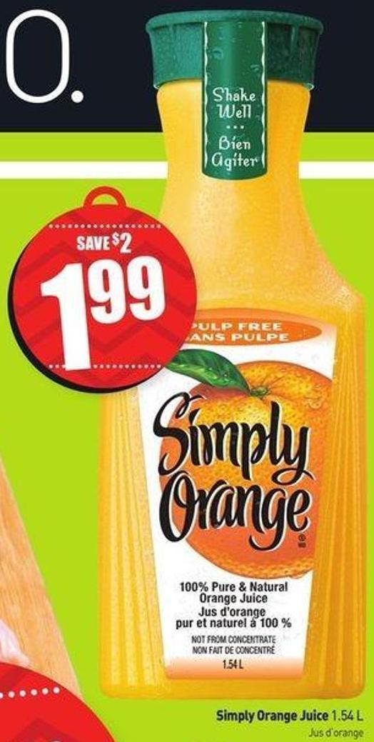 Simply Orange Juice 1.54 L