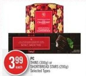 PC Thins (300g) or Shortbread Stars (200g)