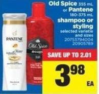Old Spice - 355 mL Or Pantene - 180-375 mL Shampoo Or Styling
