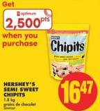 Hershey's Semi Sweet Chipits - 1.8 Kg