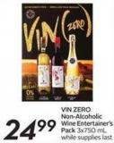 Vin Zero Non-alcoholic Wine Entertainer's Pack 3x750 mL