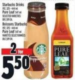 Starbucks Drinks 192 - 325 - 444 ml