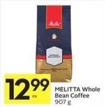Melitta Whole Bean Coffee 907 g