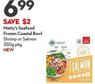 Matty's Seafood Frozen Coastal Bowl