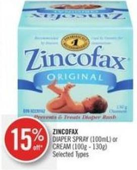 Zincofax  Diaper Spray (100ml) or Cream (100g - 130g)