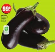 Eggplant Product of Ontario 2.18/kg