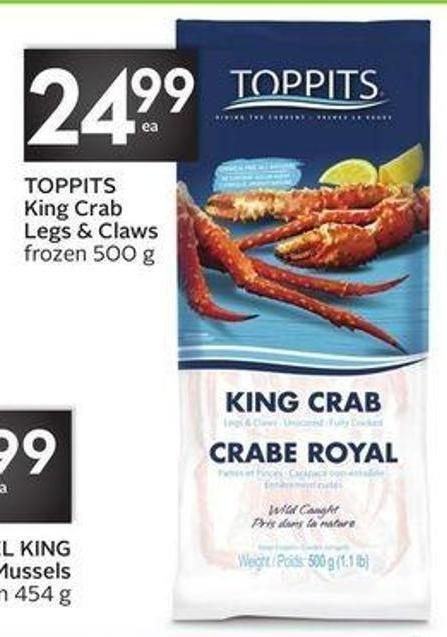 Toppits King Crab Legs & Claws