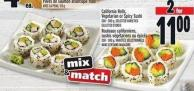 California Rolls - Vegetarian Or Spicy Sushi 200 - 300 g