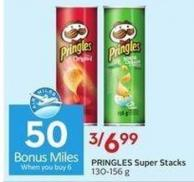 Pringles Super Stacks 130-156 g  50 Air Miles Bonus Miles
