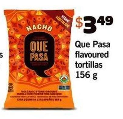 Que Pasa Flavoured Tortillas - 156 G
