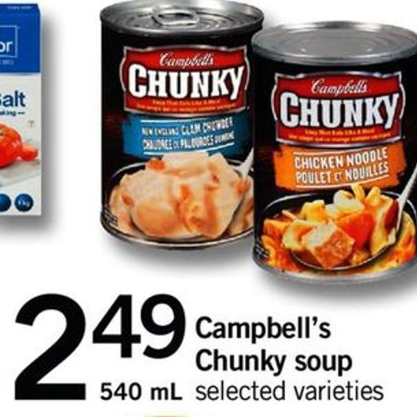 Campbell's Chunky Soup 540 ml