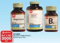 Life Brand Calcium or Vitamin Products