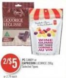 PC Candy or Capricorn Licorice 200g