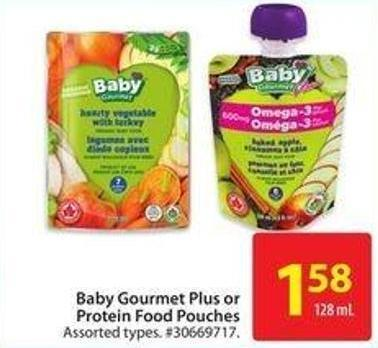 Baby Gourmet Plus or Protein Food Pouches