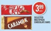 Selected Multipack Chocolate Bars