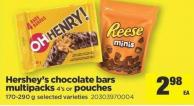 Hershey's Chocolate Bars Multipacks - 4's Or Pouches - 170-290 G