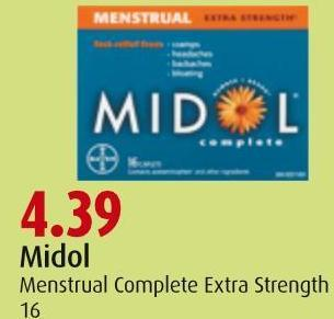 Midol  Menstrual Complete  Extra Strength 16