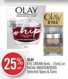 Olay Eye Cream (6ml - 15ml) or Facial Moisturizers