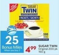 Sugar Twin Original 200 Pk 160 g  25 Air Miles Bonus Miles