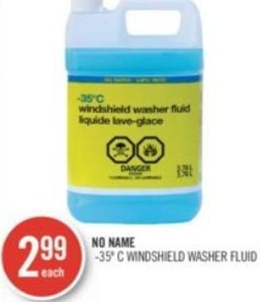 No Name -35º C Windshield Washer Fluid