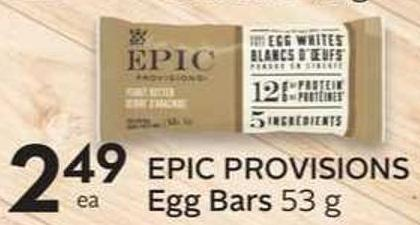 Epic Provisions Egg Bars