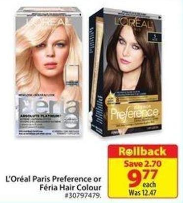 L'oréal Paris Preference or Féria Hair Colour
