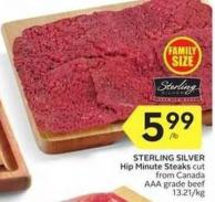 Sterling Silver Hip Minute Steaks