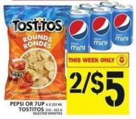 Pepsi Or 7up Or Tostitos