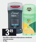 Dove Men Or Mitchum Antiperspirant Or Deodorant - 76-96 g