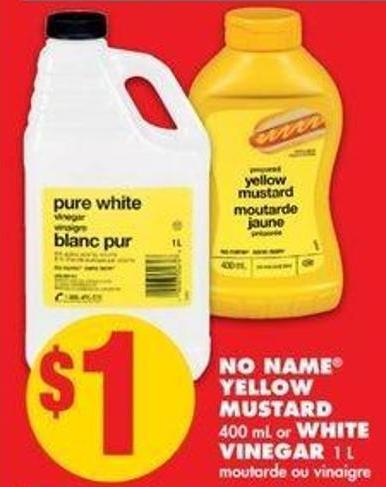 No Name Yellow Mustard - 400 mL or White Vinegar - 1 L