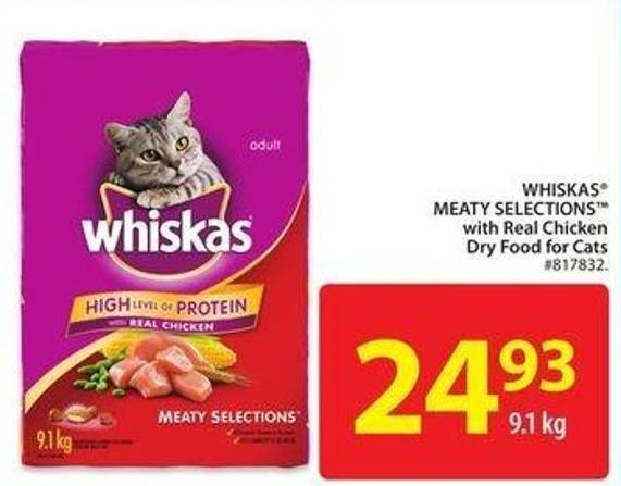 Whiskas Meaty Selections With Real Chicken Dry Food For Cats