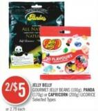Jelly Belly Gourmet Jelly Beans (100g) - Panda (170g) or Capricorn (200g) Licorice