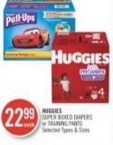 HUGGIES SUPER BOXED DIAPERS or TRAINING PANTS