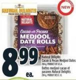 Natural Delights Cacao & Pecan Medjool Dates 284 g