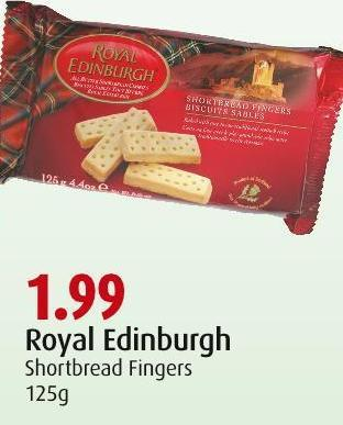 Royal Edinburgh Shortbread Fingers 125g