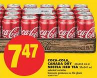 Coca-cola - Canada Dry 24x355 mL or Nestea Iced Tea 20x341 mL