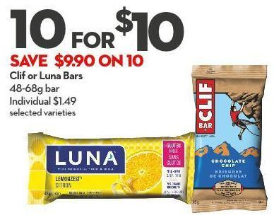 Clif or Luna Bars
