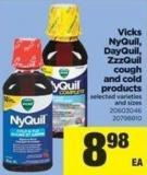 Vicks Nyquil - Dayquil - Zzzquil Cough And Cold Products