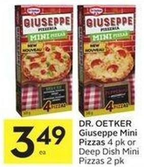 Dr. Oetker Giuseppe Mini Pizzas 4 Pk or Deep Dish Mini Pizzas 2 Pk