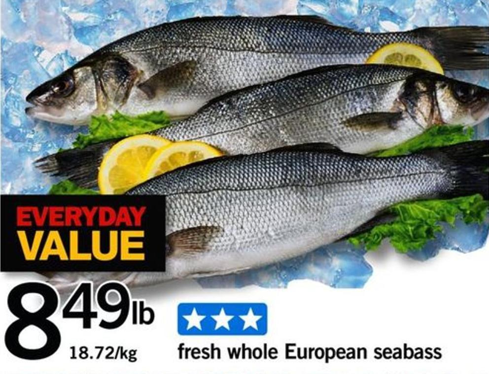 Fresh Whole European Seabass