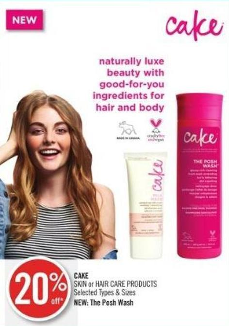 Cake Skin or Hair Care Products