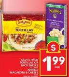 Old El Paso Tortillas Or Taco Shells Or