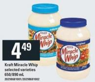 Kraft Miracle Whip - 650/890 mL