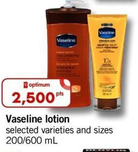 Vaseline Lotion - 200/600 Ml